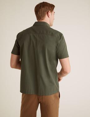 Erkek Yeşil Pamuklu Gömlek