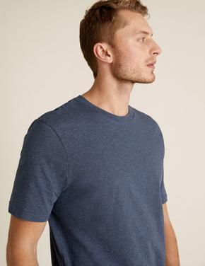 Mavi Organik Pamuklu T-Shirt