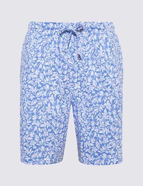 Erkek Mavi Çizgili Şortlu Pijama Takımı