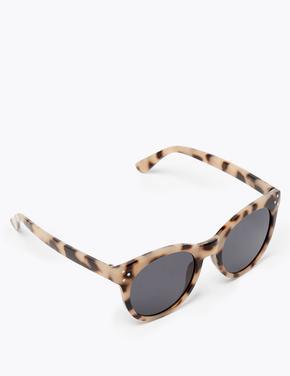 Kadın Renksiz Yuvarlak Güneş Gözlüğü