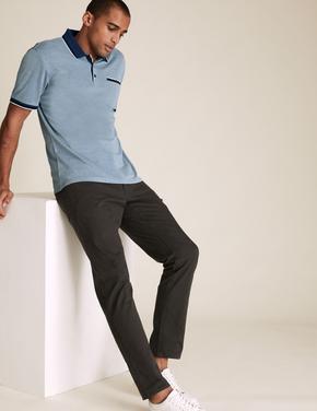 Lacivert Yumuşak Dokulu Modal Polo Tişört