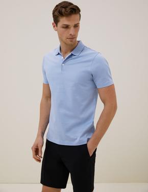 Mavi Premium Pamuklu Polo Tişört