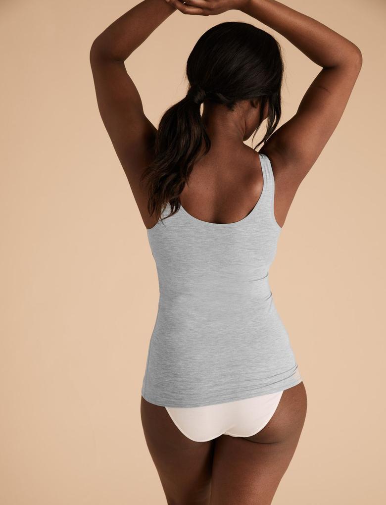Kadın Gri Flexifit™ Destekli Uyku Atleti