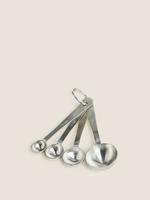 Ev Gümüş Paslanmaz Çelik 4'lü Ölçü Kaşığı Seti