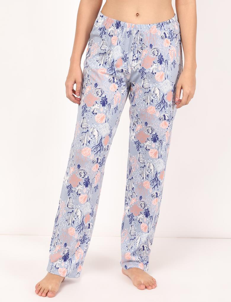 Kadın Gri Kısa Kollu Pijama Takımı