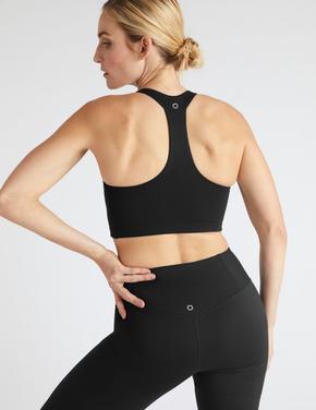 Kadın Siyah Yoga Yeleği