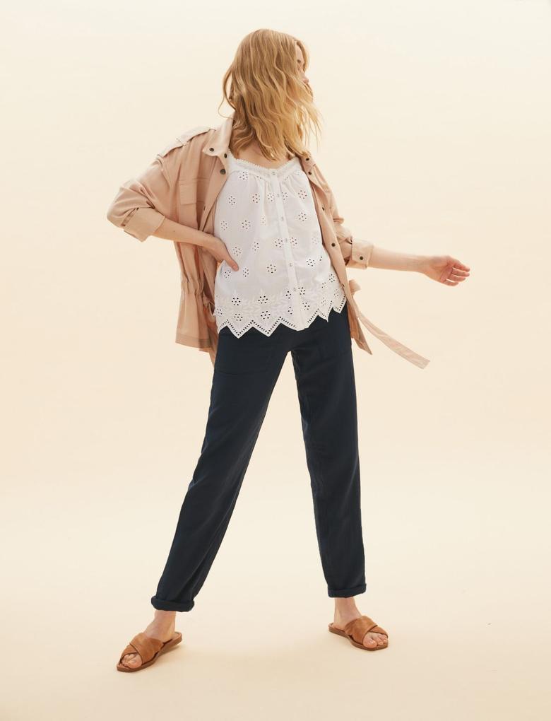 Kadın Lacivert Pamuklu Grazer Pantolon