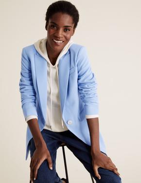 Kadın Mavi Blazer Ceket