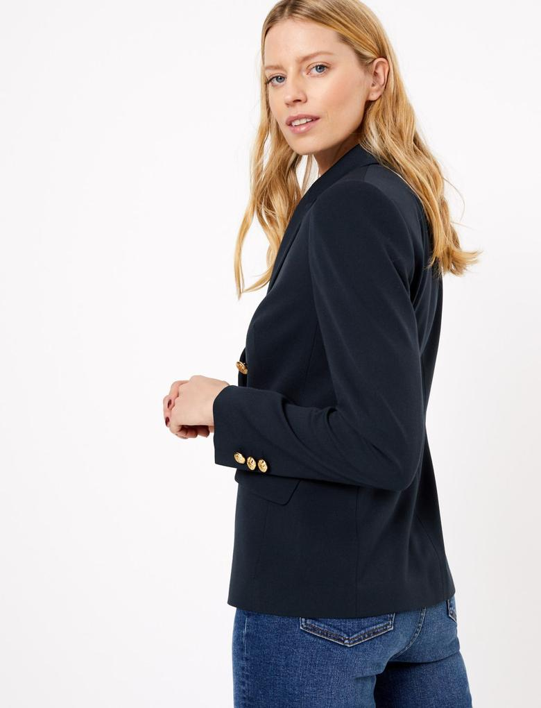 Kadın Lacivert Kruvaze Blazer
