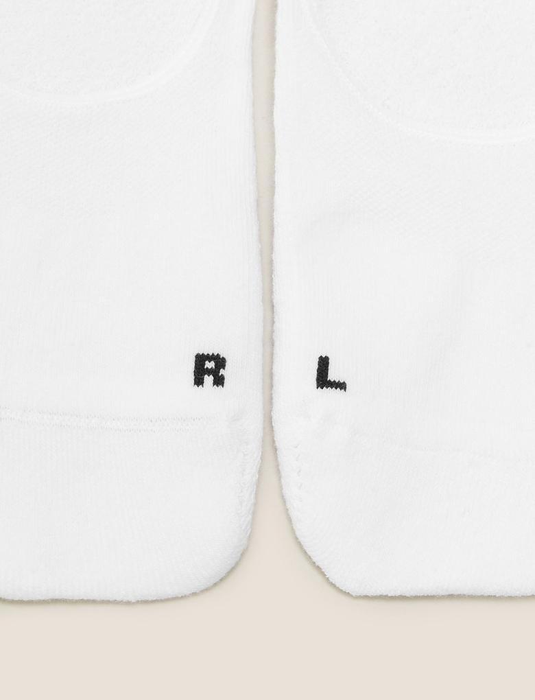Kadın Beyaz 3'lü Destekli Footsie Çoraplar