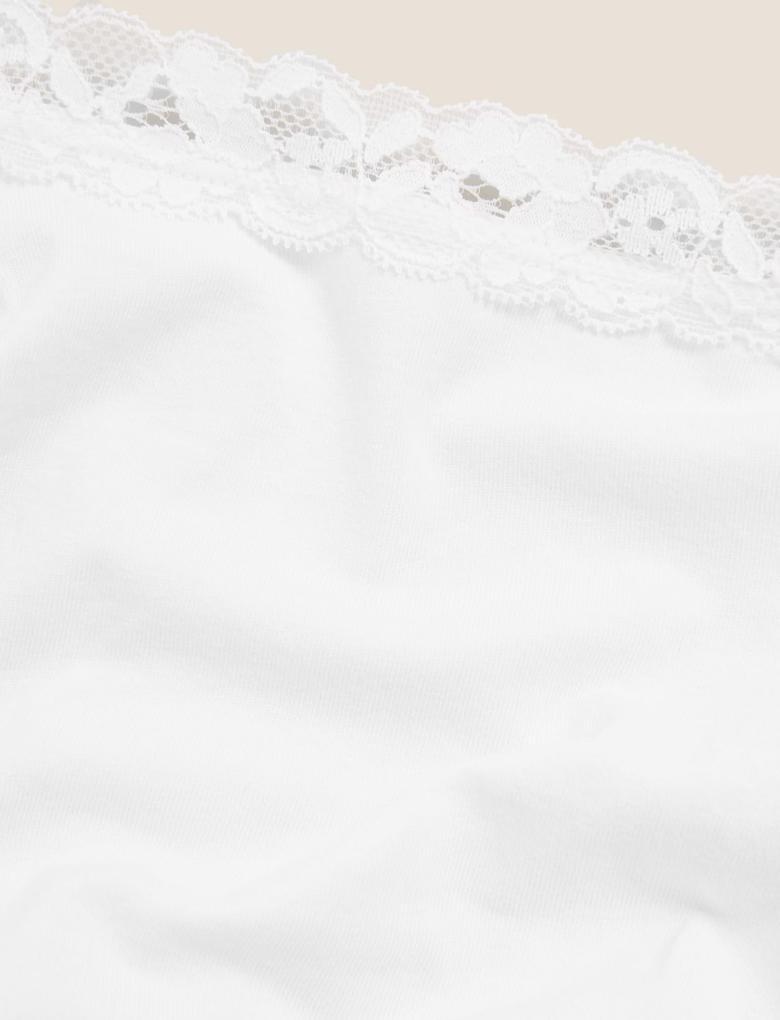 Kadın Beyaz 3'lü Dantelli Brazilian Külot Seti