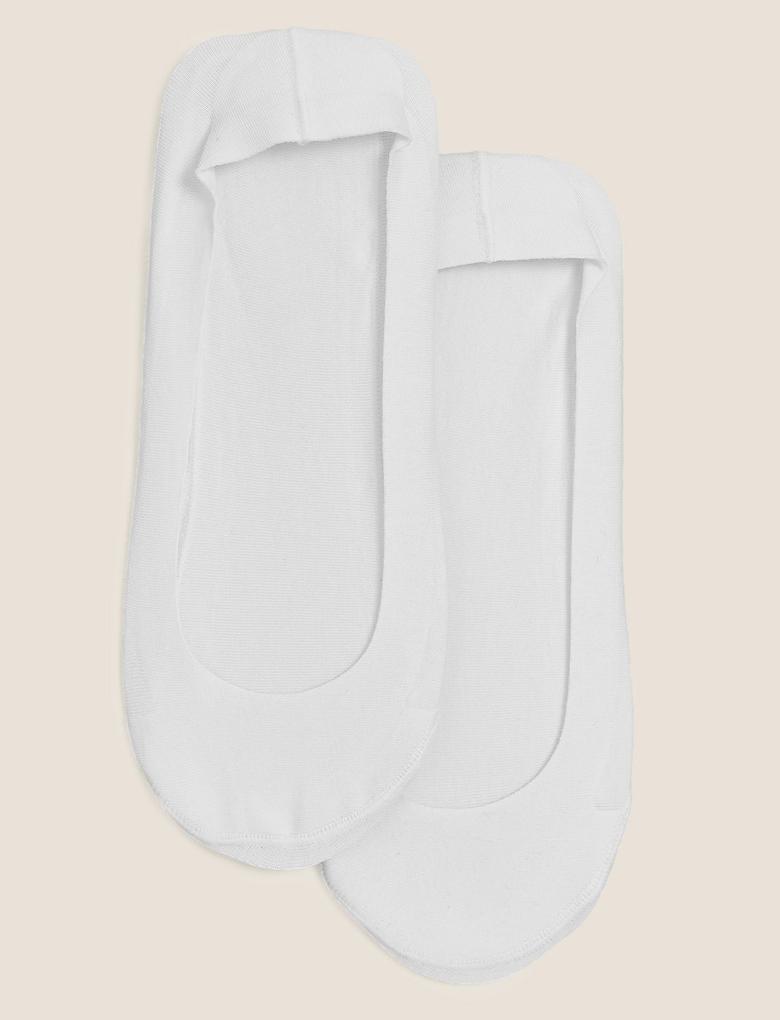 Kadın Beyaz 2'li Babet Çorabı