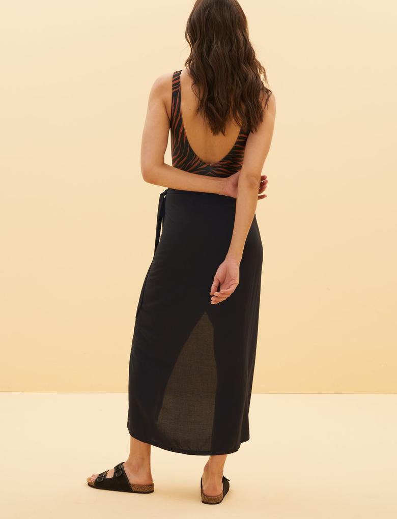 Kadın Siyah Plaj Elbisesi