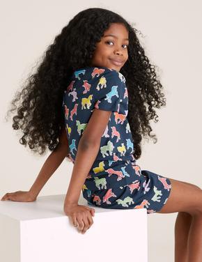 Çocuk Lacivert UnicornDesenli Pijama Takımı