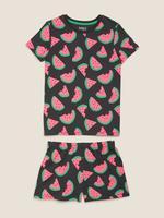 Çocuk Multi Renk Karpuz Desenli Pijama Takımı