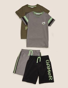 Çocuk Multi Renk 2'li Pamuklu Pijama Takımı