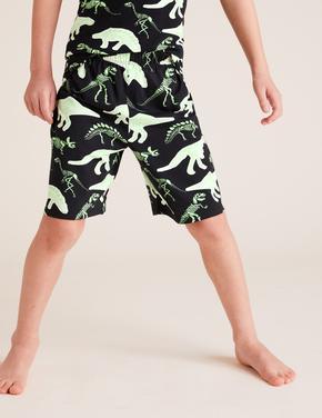 Çocuk Yeşil Ejderha Desenli Pijama Takımı