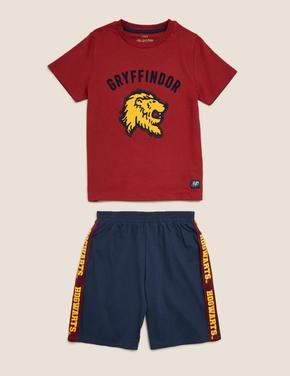 Çocuk Kırmızı Harry Potter™ Basklı Pijama Takımı