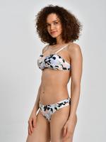 Kadın Bej Çiçek Desenli Bikini Altı