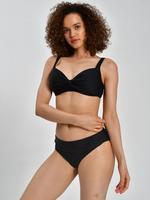 Kadın Siyah Beli Katlamalı Bikini Altı