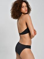 Kadın Siyah Zikzak Desenli Bikini Altı