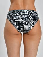 Kadın Siyah Zebra Desenli Halka Detaylı Bikini Altı