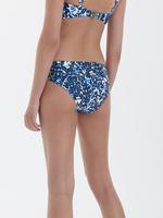 Kadın Mavi Leopar Desenli Katlamalı Bikini Altı