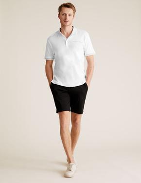 Erkek Beyaz Pamuklu Polo Yaka T-Shirt