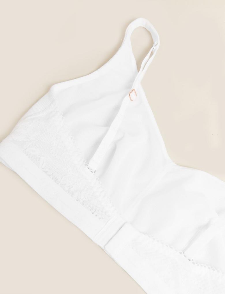 Kadın Beyaz Crop Bluz