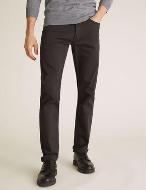 Erkek Gri Slim Fit Super Stretch Jean  Pantolon