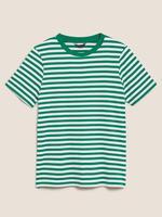 Kadın Yeşil Çizgili T-Shirt