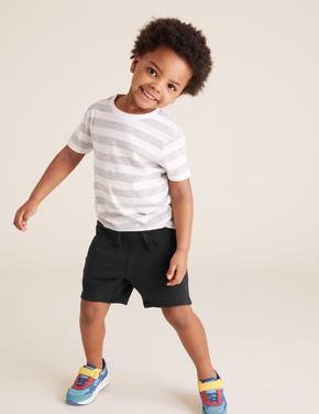 Erkek Çocuk Siyah Pamuklu Şort