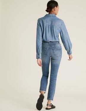 Kadın Lacivert Slim Fit Pantolon