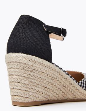 Kadın Siyah Dolgu Topuklu Espadril