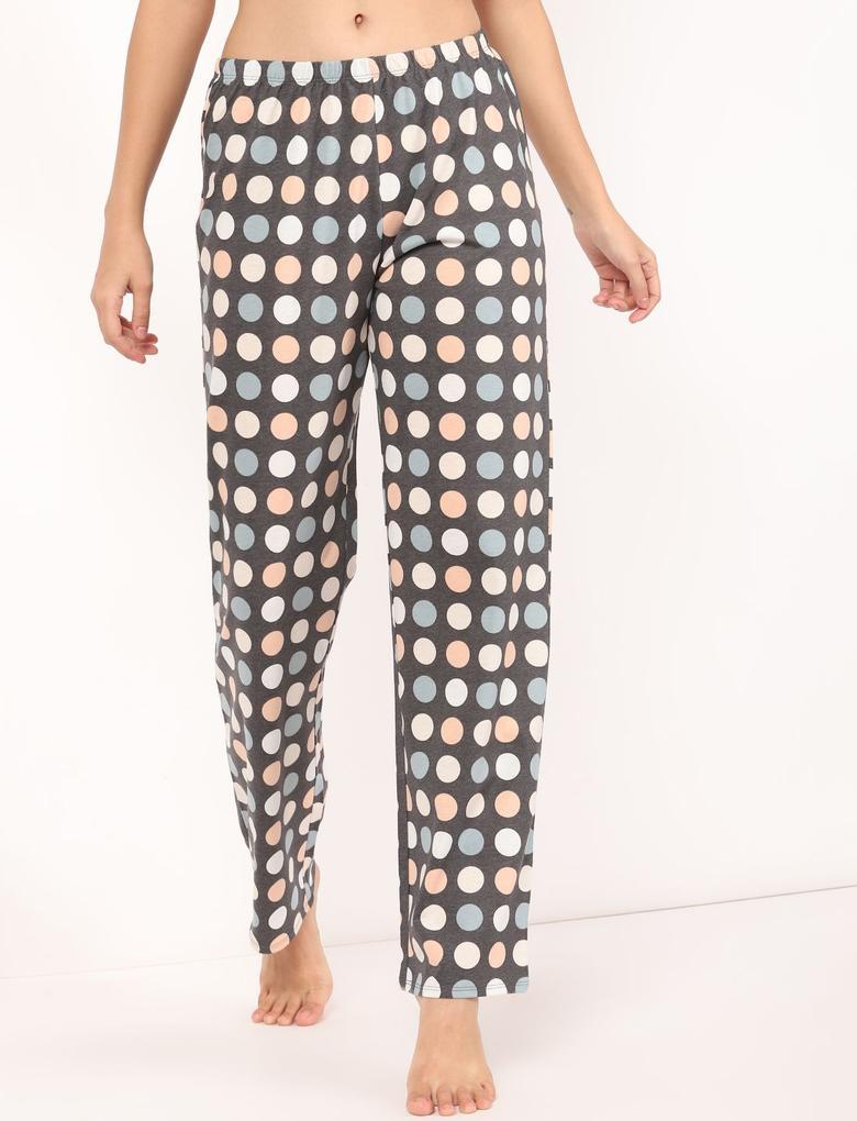 Kadın Mavi Pötikareli PijamaTakımı