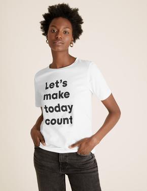 Kadın Beyaz Straight Fit  T-Shirt