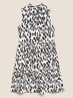Kadın Krem Desenli Elbise