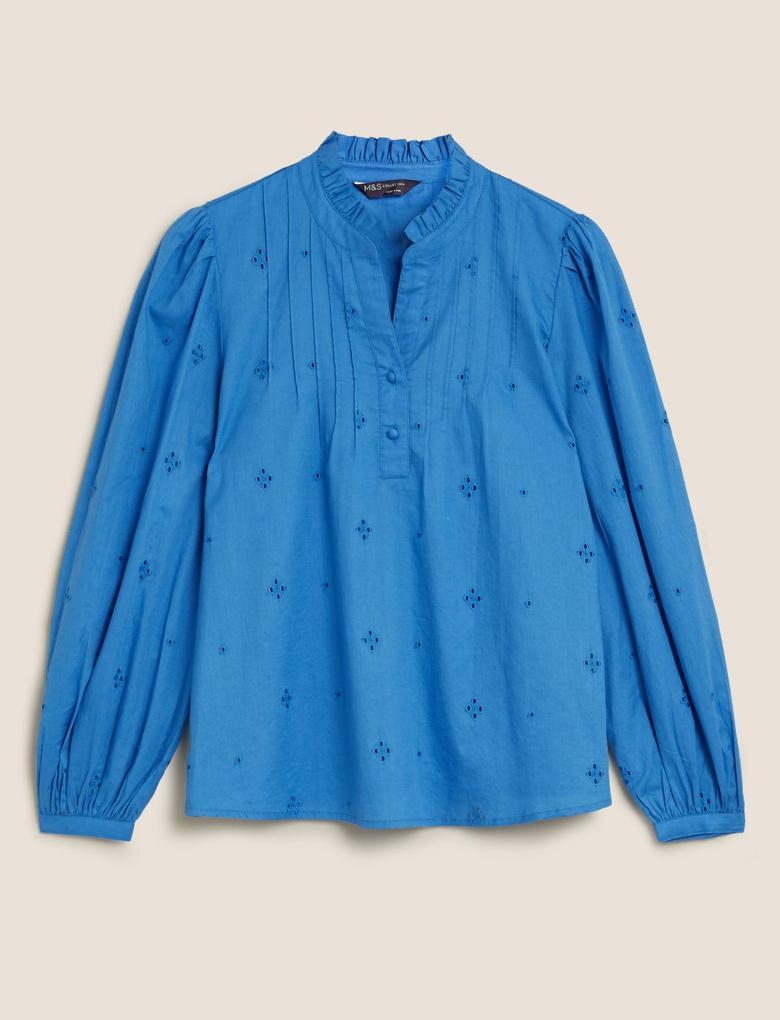 Kadın Mavi Regular Fit Bluz