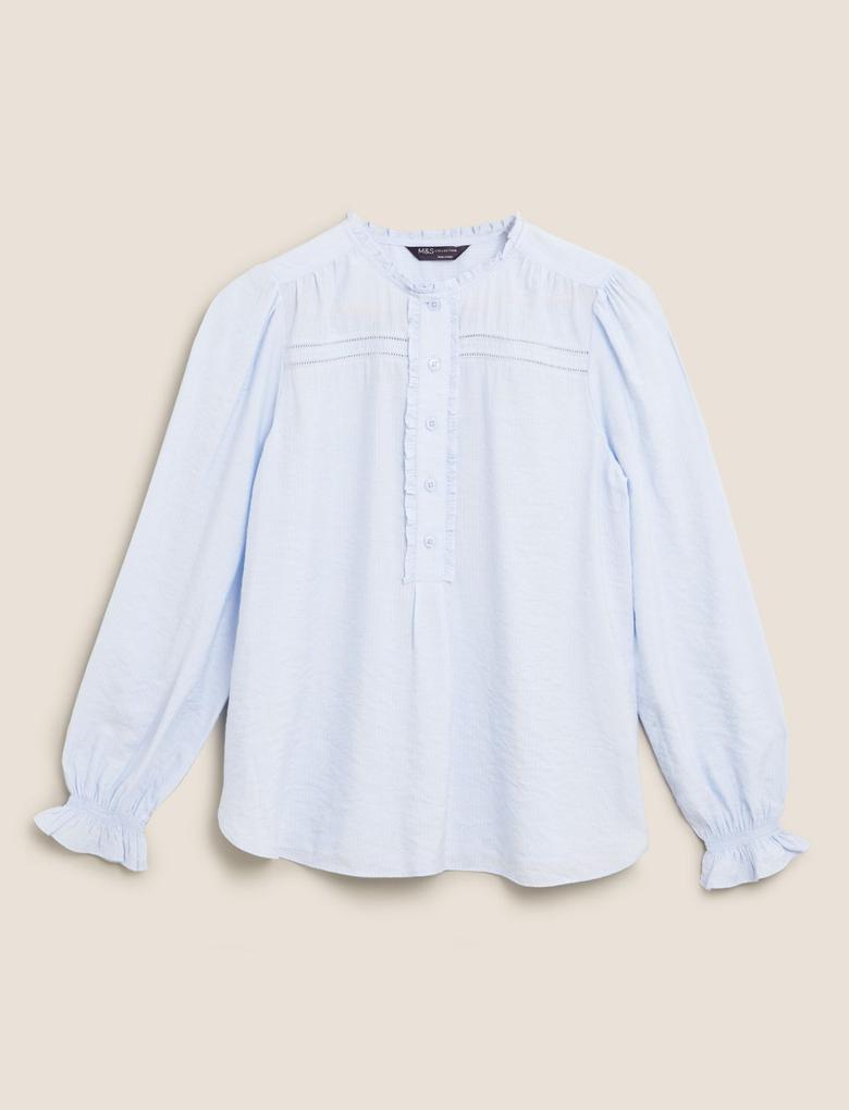 Kadın Mavi Regular Fit Gömlek