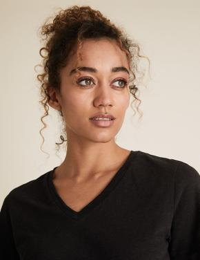 Kadın Siyah Straight Fit T-Shirt