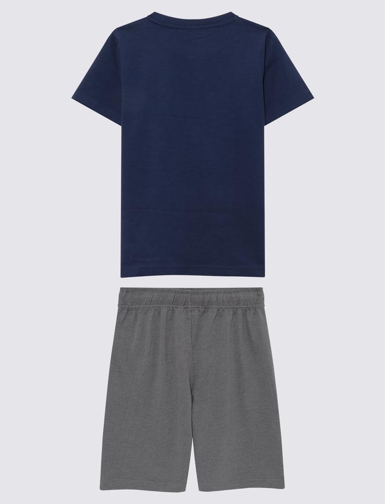 Çocuk Lacivert 2'li Pijama Takımı