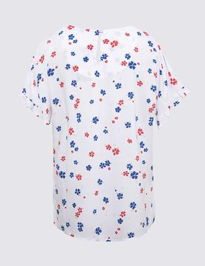Kadın Beyaz Pamuklu Gömlek