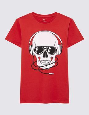 Erkek Çocuk Multi Renk Kısa Kollu Baskılı T-shirt