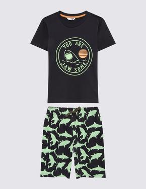 Çocuk Yeşil 2'li Pijama Takımı