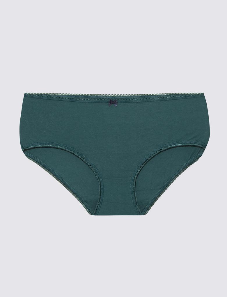 Yeşil 5'li Lycra® Midi Külot Seti