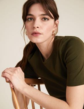 Kadın Yeşil Regular Fit T-Shirt