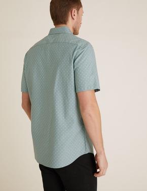 Erkek Mavi Pamuklu Oxford Gömlek