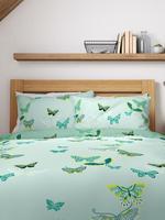 Ev Yeşil Kelebek Desenli Nevresim Takımı