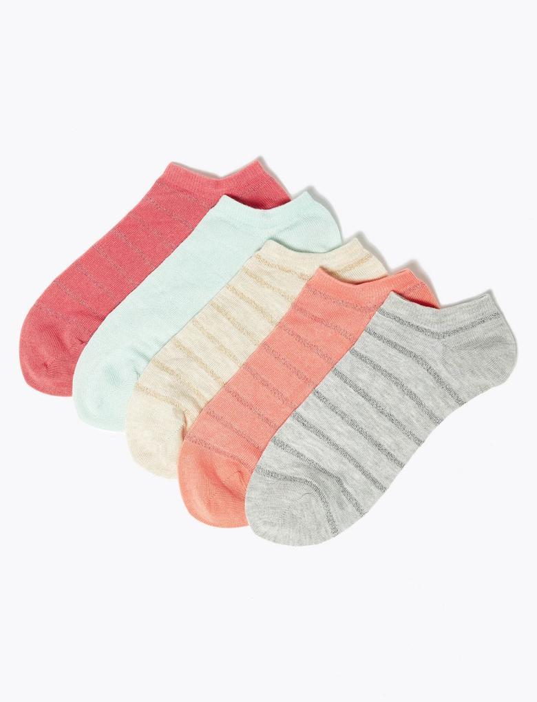 Kadın Pembe 5'li Çorap Seti