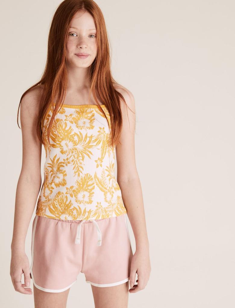 Kız Çocuk Multi Renk 3'lü Desenli T-Shirt Seti